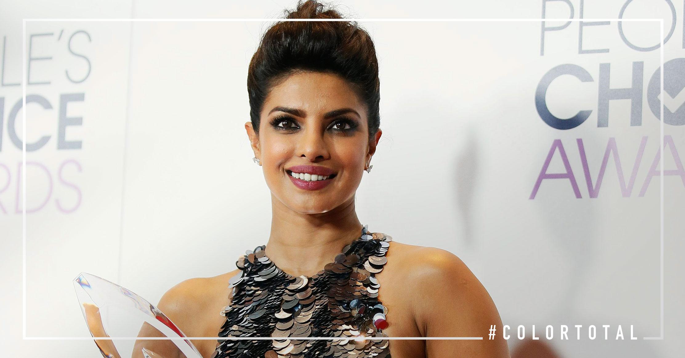 La estrella que cada vez brilla más : Priyanka Chopra peinado rockero